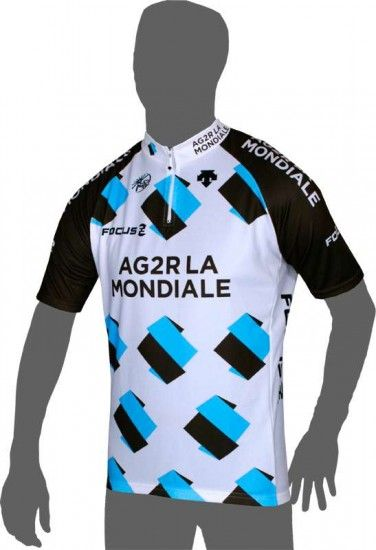 Descente Ag2R La Mondiale 2014 Cycling Jersey (Short Zip) - Professional Cycling Team