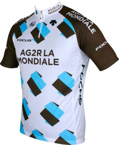 Descente Ag2R La Mondiale 2015 Cycling Jersey (Short Zip) - Professional Cycling Team
