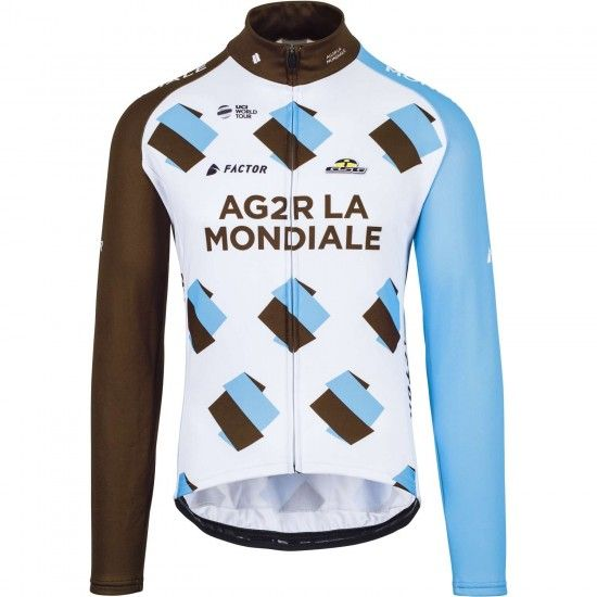 Giessegi Ag2R La Mondiale 2017 Long Sleeve Cycling Jersey - Professional Cycling Team