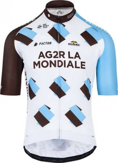 Giessegi Ag2R La Mondiale 2017 Short Sleeve Jersey - Professional Cycling Team