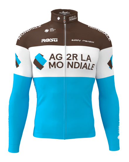 Rosti Ag2R La Mondiale 2019 Long Sleeve Cycling Jersey - Professional Cycling Team