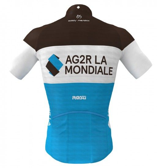 Rosti Ag2R La Mondiale 2019 Premium Short Sleeve Cycling Jersey (Long Zip) - Professional Cycling Team