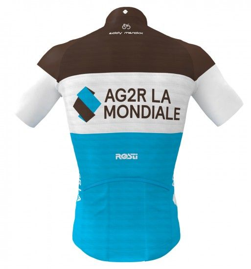 Rosti Ag2R La Mondiale 2019 Set (Jersey Long Zip + Strap Trousers) - Professional Cycling Team