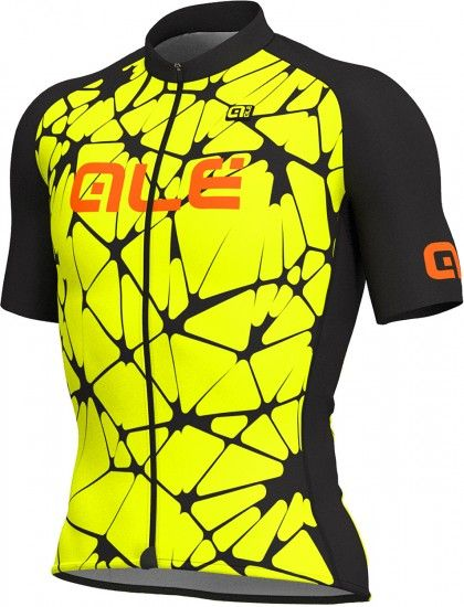 Alé Ale Cracle Short Sleeve Cycling Jersey Yellow/Black