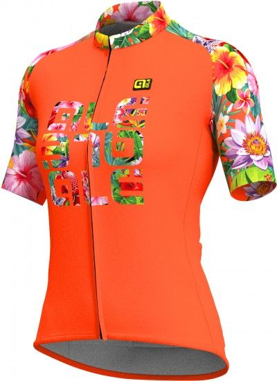 Alé Ale Flowers Lab Lady Short Sleeve Cycling Jersey Orange