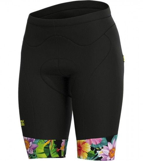 Alé Ale Flowers Lab Womens Cycling Shorts Black/Multicolor