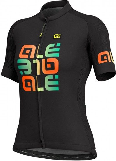 Alé Ale Mirror Lady Short Sleeve Cycling Jersey Black