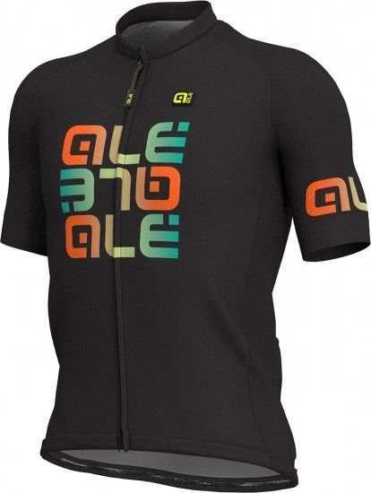 Alé Ale Mirror Short Sleeve Cycling Jersey Black