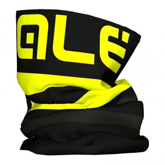 Alé Ale Piuma Multifunctional Headwear Black/Fluo Yellow