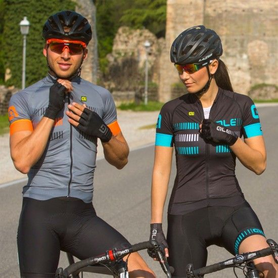 Alé Ale Strada Lady Short Sleeve Cycling Jersey Black/Turquoise