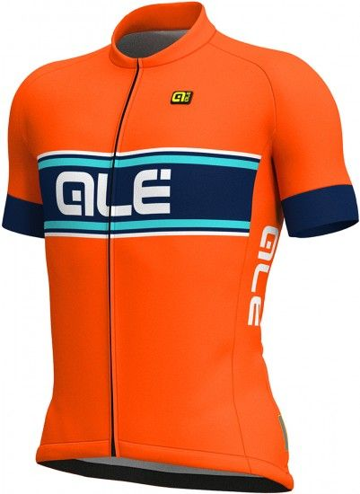 Alé Ale Vetta Short Sleeve Cycling Jersey Orange/Blue