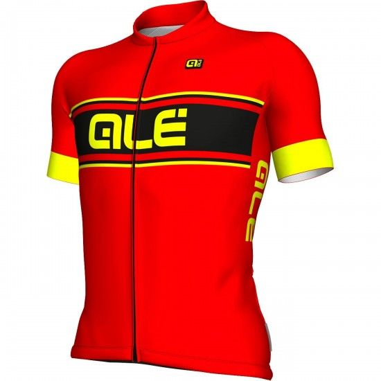 Alé Ale Vetta Short Sleeve Cycling Jersey Red/Fluo Yellow