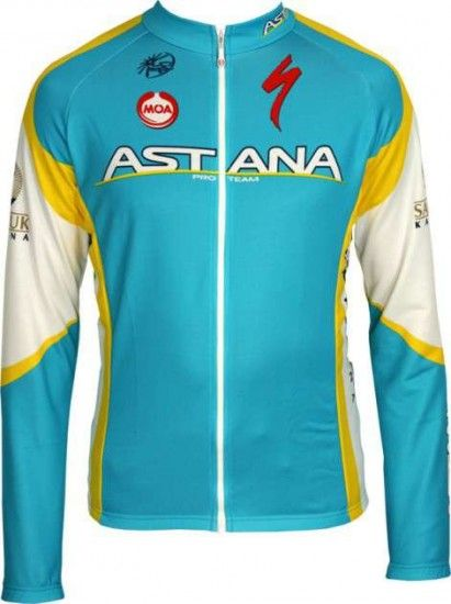 Moa Astana 2012 Professional Cycling Team - Cycling Long Sleeve Jersey