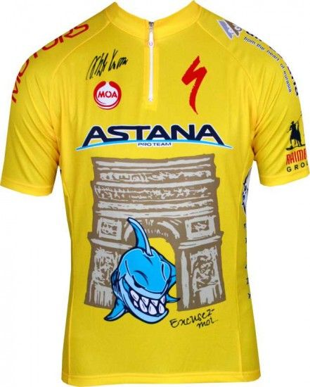 Moa Astana Tour De France Champion 2014 Professional Cycling Team - Cycling Jersey With Short Zip