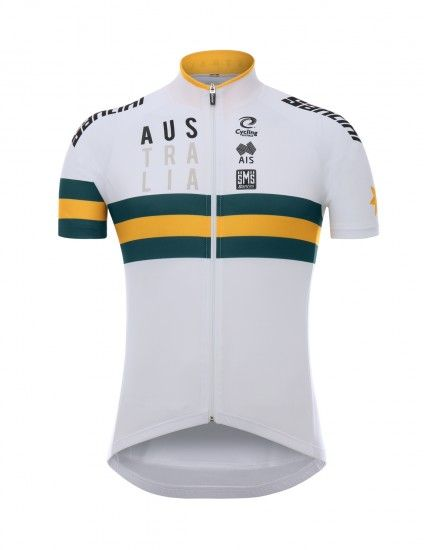 Santini Australia 2019 Short Sleeve Jersey (Long Zip) - National Cycling Team