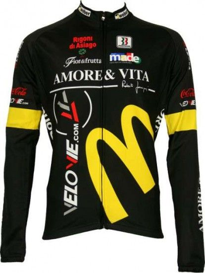 Biemme Amore & Vita Professional Cycling Team - Cycling Long Sleeve Jersey