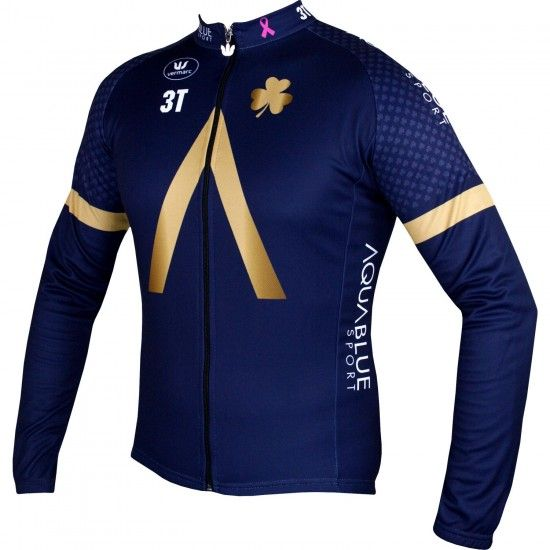 Vermarc Aquablue Sport 2018 Long Sleeve Cycling Jersey - Professional Cycling Team