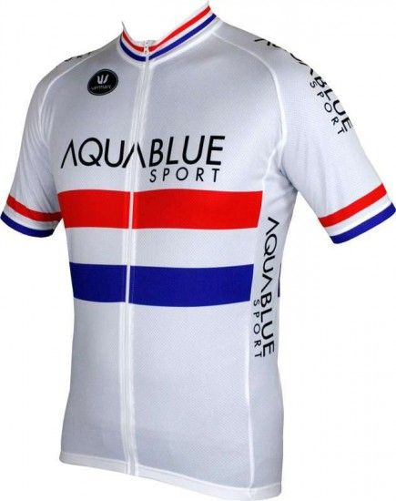 Vermarc Aquablue Sport British Champ 16/17 - Short Sleeve Jersey (Long Zip) - Professional Cycling Team