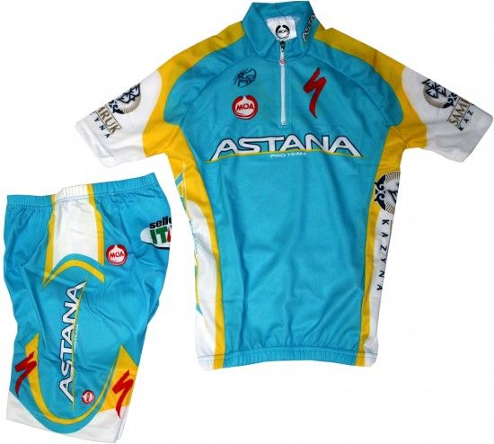 Nalini Astana 2011 Cycling Set For Kids (Jersey, Trousers) - Professional Cycling Team