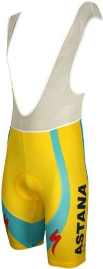 Nalini Astana Tour Champion / Yellow Short 2010 Professional Cycling Team - Cycling Bib Short