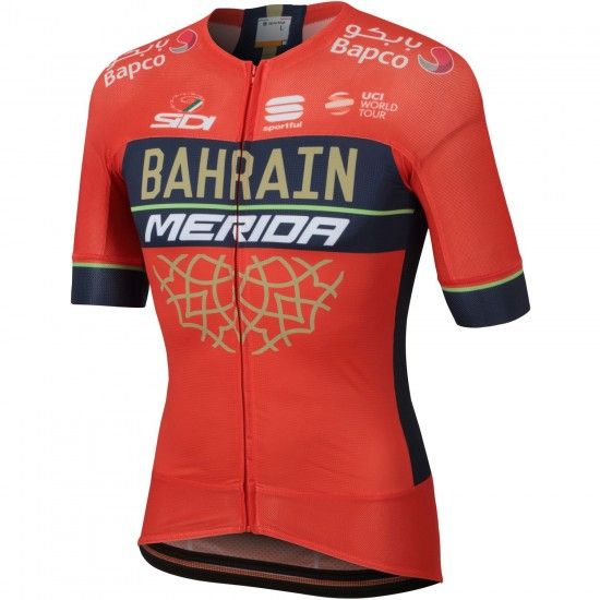 Sportful Bahrain Merida 2018 Race-Jersey (Long Zip) - Professional Cycling Team