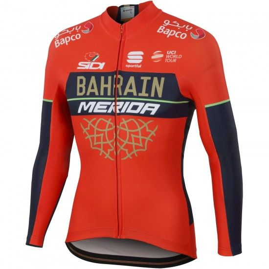 Sportful Bahrain Merida 2018 Long Sleeve Cycling Jersey - Professional Cycling Team