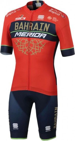 Sportful Bahrain Merida 2018 Set (Jersey + Bib Shorts) - Professional Cycling Team
