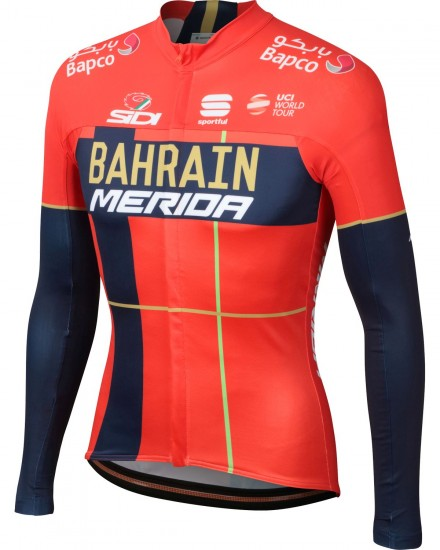 Sportful Bahrain Merida 2019 Long Sleeve Cycling Jersey - Professional Cycling Team