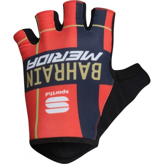 Sportful Bahrain Merida 2019 Short Finger Gloves - Professional Cycling Team