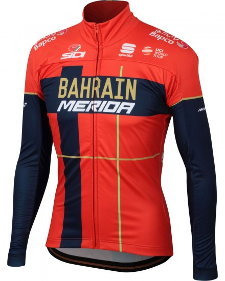 Sportful Bahrain Merida 2019 Winter Cycling Jacket - Professional Cycling Team