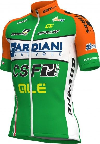 Alé Bardiani Csf 2018 Short Sleeve Cycling Jersey (Long Zip) - Ale Professional Cycling Team