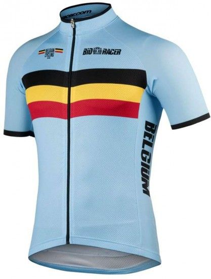 Bioracer Belgium 2019 Short Sleeve Jersey (Long Zip) - National Cycling Team