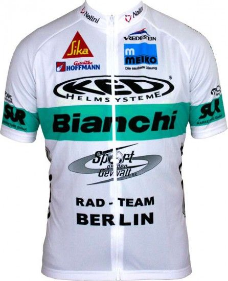 Nalini Bianchi Berlin Limited Edition Short Sleeve Jersey (Long Zip) - Professional Cycling Team