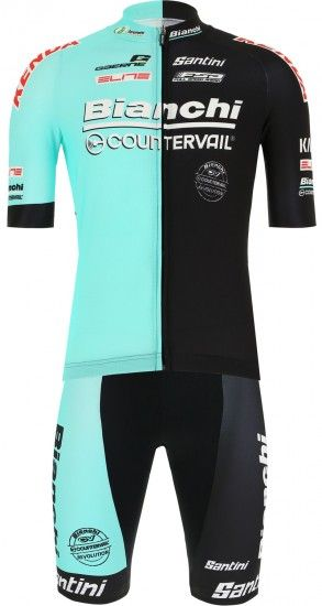Santini Bianchi Countervail 2019 Set (Jersey + Bib Shorts) - Professional Cycling-Team