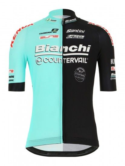 Santini Bianchi Countervail 2019 Short Sleeve Cycling Jersey - Professional Cycling Team