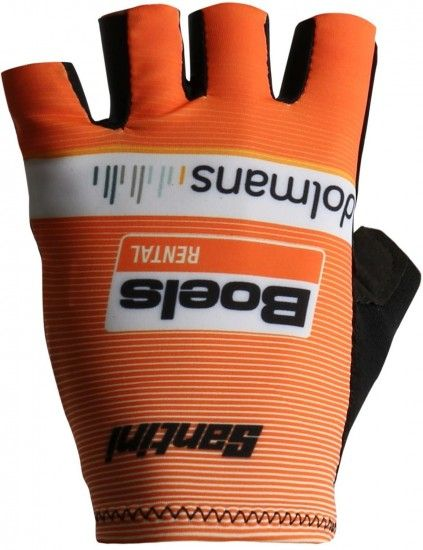 Santini Boels Dolmans Cyclingteam 2018 Short Finger Cycling Gloves - Professional Cycling Team