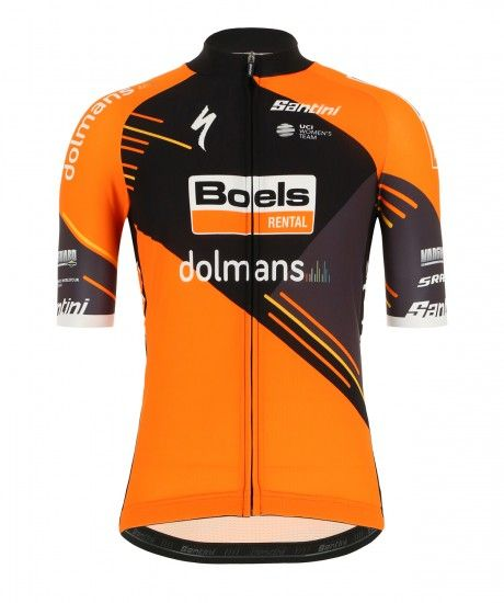 Santini Boels Dolmans Cyclingteam 2019 Short Sleeve Cycling Jersey - Professional Cycling Team