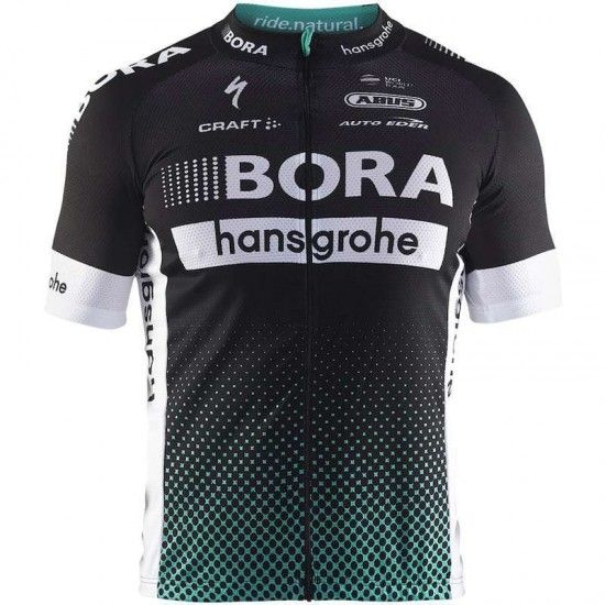 Craft Bora-Hansgrohe 2017 Short Sleeve Jersey (Long Zip) For Kids - Professional Cycling Team
