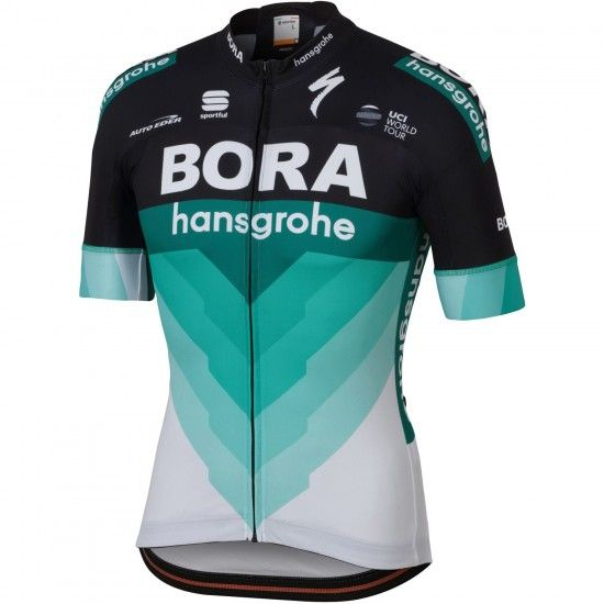 Sportful Bora-Hansgrohe 2018 Short Sleeve Cycling Jersey (Long Zip) - Professional Cycling Team