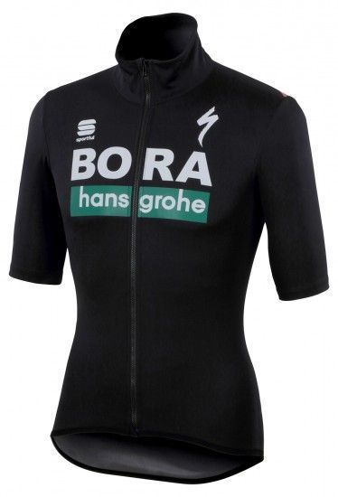 Sportful Bora-Hansgrohe 2019 Fiandre Light Wind/Waterproof Short Sleeve Jersey - Professional Cycling Team