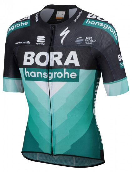Sportful Bora-Hansgrohe 2019 Pro Light Short Sleeve Cycling Jersey (Long Zip) - Professional Cycling Team