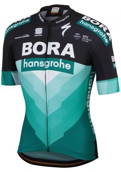 Sportful Bora-Hansgrohe 2019 Short Sleeve Cycling Jersey (Long Zip) - Professional Cycling Team