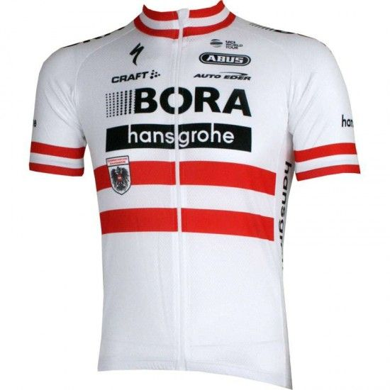 Craft Bora-Hansgrohe Austrian Champion 2017 Short Sleeve Jersey (Long Zip) - Professional Cycling Team
