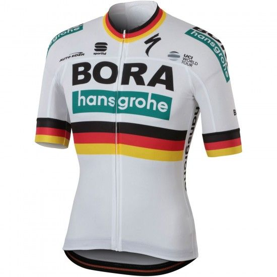 Sportful Bora-Hansgrohe German Champion 2018/19 Short Sleeve Cycling Jersey (Long Zip) - Professional Cycling Team