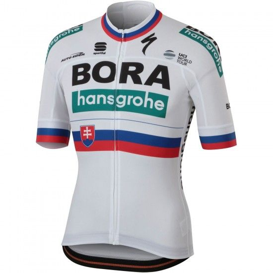 Sportful Bora-Hansgrohe Slovakian Champion 2018/19 Short Sleeve Cycling Jersey (Long Zip) - Professional Cycling Team