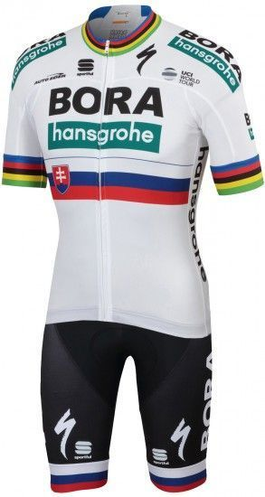 Sportful Bora-Hansgrohe Slovakian Champion 2019 Set (Jersey Short Sleeve + Bib Shorts) - Professional Cycling Team