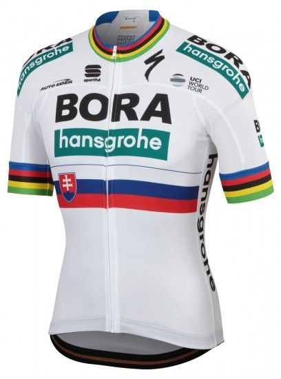 Sportful Bora-Hansgrohe Slovakian Champion 2019 Short Sleeve Cycling Jersey (Long Zip) - Professional Cycling Team