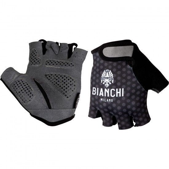 Bianchi Milano Alvia Short Finger Cycling Gloves Black/Patterned (E19-4001)