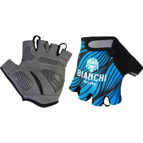 Bianchi Milano Alvia Short Finger Cycling Gloves Blue (E18-4200)