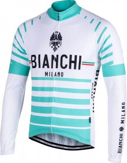 Bianchi Milano Appiano Long Sleeve Cycling Jersey White/Celeste (I18-4300)